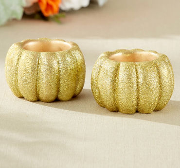 Glitter Gold Votive Candle Holders