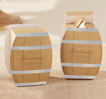 Wine Barrel Favor Boxes
