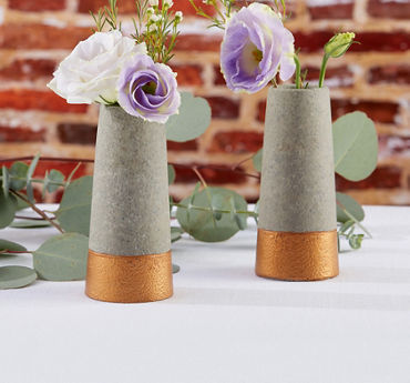 Copper & Concrete Vases