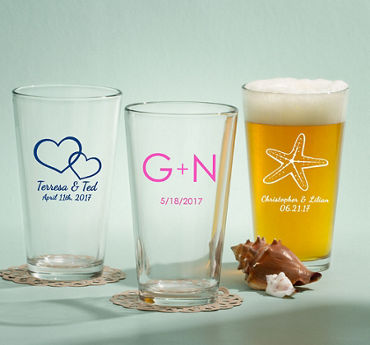 Personalized Pint Glasses (Printed Glass)