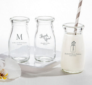 Personalized Glass Milk Bottles (Printed Glass)