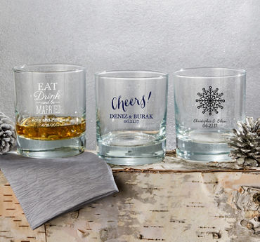 Personalized Rocks Glasses (Printed Glass)