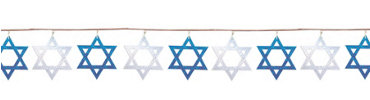 Star of David String Garland 9ft