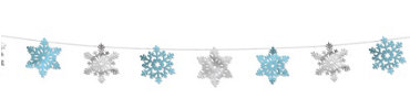 Snowflake String Hanging Decoration 100ft