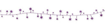 Purple Star Wire Garland 12ft
