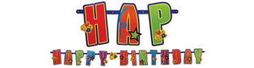 Giant Happy Birthday Letter Banner 11ft