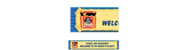Pirate Party Map Custom Birthday Banner 6ft