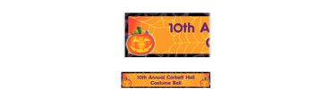 Playful Pumpkin Custom Halloween Banner 6ft