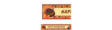 Thanksgiving Scrapbook Custom Banner 6ft