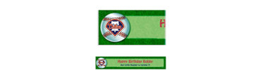 Philadelphia Phillies Custom Banner 6ft