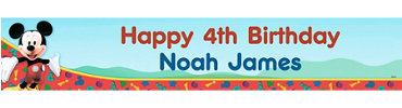Mickey's Clubhouse Custom Birthday Banner 6ft