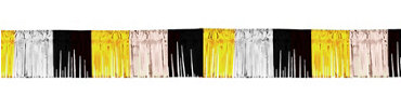 Silver, Black & Gold Fringe Garland 20ft