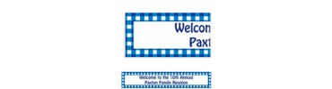 American Summer Blue Gingham Custom Banner 6ft