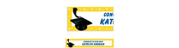 Yellow Congrats Grad Custom Graduation Banner 6ft