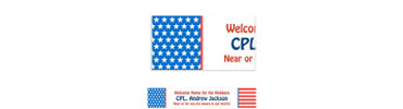 Red, White & Blue Stars Welcome Home Custom Banner 6ft