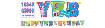 Add an Age Yo Gabba Gabba Letter Banner 10ft