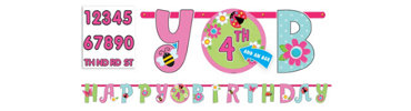 Add an Age Garden Girl Letter Banner 10ft