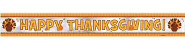 Foil Thanksgiving Banner 9ft