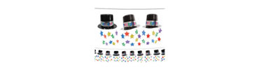 Jewel Tone Top Hat Garland 12ft