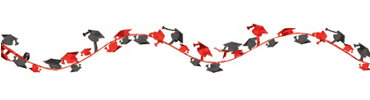 Red Wire Graduation Garland 12ft