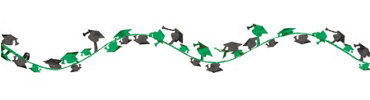Green Wire Graduation Garland 12ft