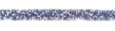 Blue Patriotic Boa Tinsel Garland