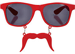 Red Handlebar Sun-Stache