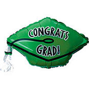 Foil Green Graduation Cap Balloon 18in