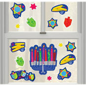 Happy Hanukkah Vinyl Window Decorations 15ct