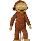 Pull String Curious George Pinata 23in