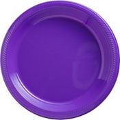 Purple Plastic Dinner Plates 20ct
