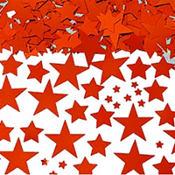 Metallic Red Star Confetti