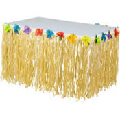 Luau Nylon Table Skirt 9ft
