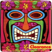 Tiki Time Square Dessert Plates 8ct
