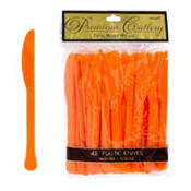 Orange Premium Plastic Knives 48ct
