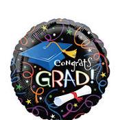 Foil Grad Celebration Graduation Balloon 18in