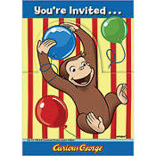 Curious George Invitations 8ct