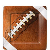 Football Fan Square Dessert Plates 8ct