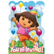 Dora and Friends Invitations 8ct