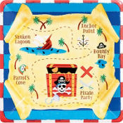Pirate's Treasure Lunch Plates 8ct