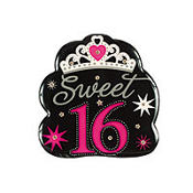Sweet 16 Sparkle Light Up Button