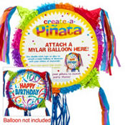 Pull String Multi Color Blank Pinata 16in