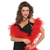 Red Feather Boa 72in