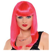 Classic Beauty Hot Pink Wig