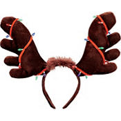 Moose Antlers Headband with Christmas Lights