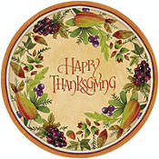 Thanksgiving Medley Dinner Plates 8ct