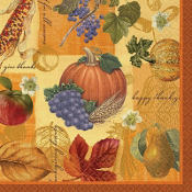 Thanksgiving Scrapbook Beverage Napkins 16ct