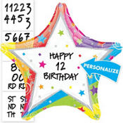 Happy Birthday Balloon - Personalized Rainbow Star