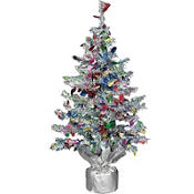 Tinsel Christmas Tree 19in