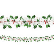 Holly Tinsel Garland 18ft